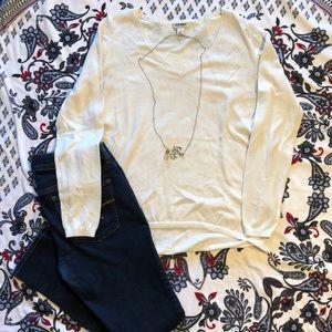 Old navy, white, long sleeve shirt